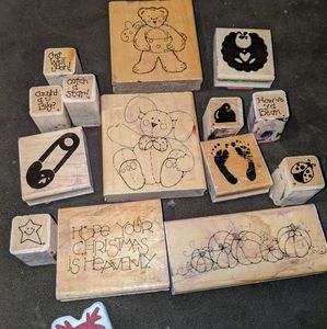 Other - Lot of rubber stamps (mostly JRL Designs)
